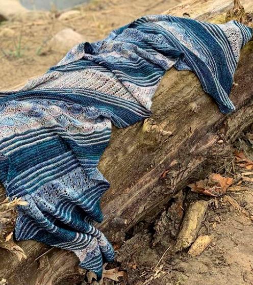 blue algal shawl